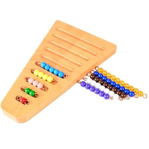 Montessori Math Manipulatives 유치원 컬러 비즈와 랙 배치 Educativos kids 교육 학습