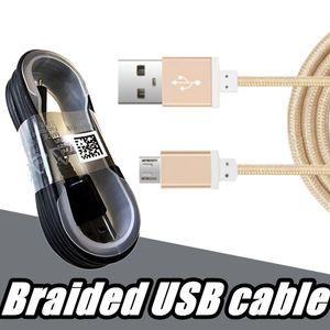 1.5M Cavi USB di tipo C nylon intrecciato in alluminio in metallo intrecciata dati cavi filo del caricatore per Samsung Galaxy S7 S8 bordo oltre 2.018