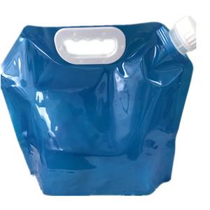 Levantamiento portátil que acampa yendo de 5L de almacenamiento de agua plegable bolsa de supervivencia al aire libre Accesorios Kits de viaje Equipamientos LF048