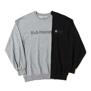 Gosha Mens Designer Sweatshirt Hip Hop De La Mode Paniqué à Manches Longues Pullovers 3 Couleurs Russe Lettres Impression Côtelé Ras Du Cou Sweat