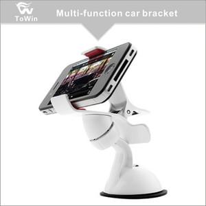 Support de téléphone de voiture 360 degrés de rotation Compatible avec la plupart des téléphones Support de téléphone universel pivotant à 360 ° réglable