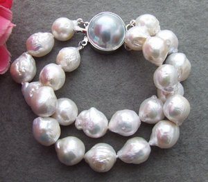 B1304006 14MM Bead-Nucleated Pearl Pulseira-Mabe Clasp