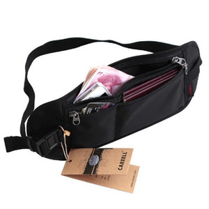 HIPSTEEN 15 Inches Durable Invisible Waterproof Waist Bag Close-Fitting Theftproof Document Pocket For Women Men Teenager- Black