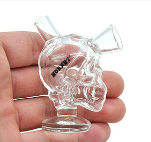 This skull shape glass pipes carry convenient and practical easy cleaning pipe