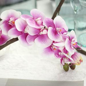 Marka 72 cm Parti 2 adet PU Orkide Lateks Orkide Yapay Gerçek Dokunmatik Phalaenopsis Düğün Centerpieces için Ev Dekoratif Çiçekler