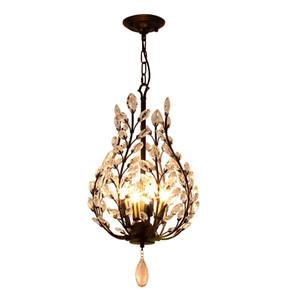 Modern Vintage Design E14 K9 Crystal Black Led Crystal Chandelier Iluminação Acessórios Para Casa de Banho Casa de Banho Casa Lâmpada