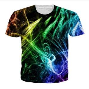 Summer Newest Fashion Womens / Mens Digital Printing Funny 3D creativo Casual Hip Hop camiseta DXS010