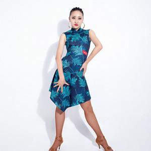 Fashion Sexy Latin Dance Temperament High Collar Dress Costume Performance Clothing Or Ballroom Dance Practice Dress DWY895
