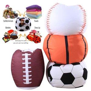 Futbol Basketbol Beyzbol Depolama Bean Bag 18inch Hayvan Peluş Kılıfı Çanta Giyim Çamaşır Depolama Organizatör
