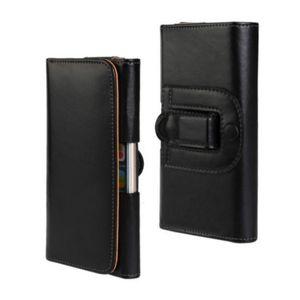 Clipe de cinto universal PU couro cintura titular Flip Pouch Case para açúcar Y11 / F11 / Y9
