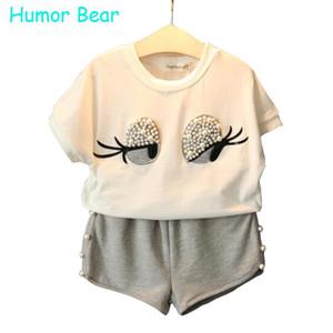 Humour Ours Filles Vêtements Ensemble Filles Perle Vêtements Ensemble Belle Belle Cils Toddler Fille Tops + Pantalon Costume Filles Vêtements Pour Enfants