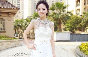 Body Jewerly Bridal Wride Wrids Diamond Crystal Hrinestone кисточкой плеча цепь шаль WORK мыс невесты свадебные аксессуары свадебные платья куртка