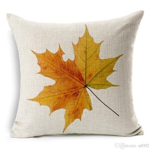 Criativo Queda Travesseiro Padrão Decíduo Fronha Capa de Almofada De Linho De Algodão Vermelho Maple Leaves Pillowslip Multi Estilo 6 8xa ii