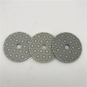Almohadilla de pulido de 3 pasos 3 pulgadas (80 mm) para granito, mármol, piedra artificial, rueda de pulir, lijadora, disco abrasivo, almohadilla, seco o húmedo, 3 pcs / lote