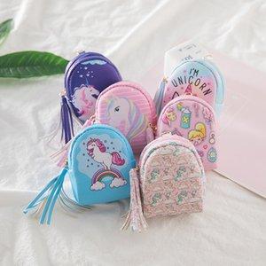 En Stock 2018 Nouvelle Mode Unicorn Style PU Porte-Monnaie Enfants Portefeuilles Casque de Données Ligne De Stockage Sac Enfants Cadeaux M038-1