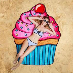Women Beach Shawl Cover Up Carton Pattern Sarong Bikini Wrap Printed Fruit Pareo Sarong for Women Swimwear Swimsuit