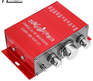 ¡Gran venta! Hi-Fi 12 V Mini Auto Amplificador de Potencia de Coche Amplificador de Audio Estéreo Soporte CD DVD Entrada MP3 para Motocicleta Barco Inicio