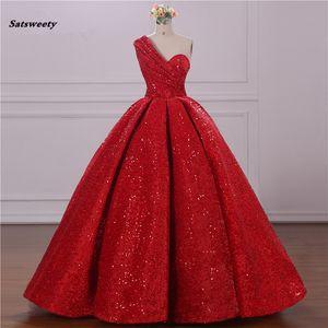 Sexy Elie Saab court arabe rouge pailletée formelle Soirée Party robe de bal Abiye turque Robes de soirée Robes Avondjurk 2021