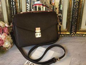 Clásico Mensajero de cuero bolsa de pochette del monedero de las mujeres de los bolsos de totalizadores Metis solo hombro impresión de bolsas flor crossbody M40780
