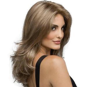 Avrupa ve Amerika için yeni stil Saç Sentetik Saç Bayanlar Gül Net Peruk Orta Uzun Kıvırcık elyaf saç stokta iki renk