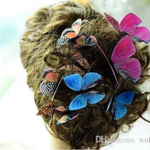 92 Stili Donna Spille a fiori Spilla Natale Spilla 3D Farfalle Decorazioni Panno Simulazione Spille a farfalla Spilla Spille a farfalla 50 pz