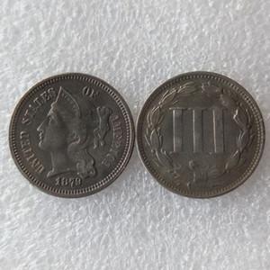 US 1879 THREE CENT NICKEL Coin Copy Coins accesorios de decoración del hogar