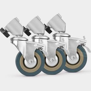 3PCS 22mm Fotografía Heavy Duty ruedas giratorias universales para soportes de luzStudio Boom Photo Studio Accessories