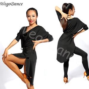 Nouvelle mode sexy femme Latin Training Exercise Dance Dress Ballroom Dance Dress Lâche Top Livraison gratuite