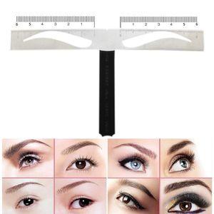 Regla Microblading Sourcil Stencil Règle Métal Maquillage Permanent Position De Tatouage Règle Pour Sourcil Modèle Outils