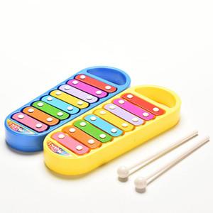 Nueva moda vendiendo juguete instrumento musical bebé niño niños 8-nota música juguetes regalo sabiduría inteligente desarrollo inteligente juguete musical