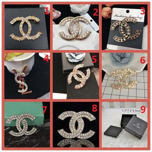 Prix de gros! 14K broche en diamant perle design classique argent or breastpin partie Pin accessoires bijoux soirée cadeau A8