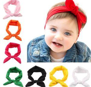 Baby Girls Bunny Ear Headbands Bows Elastic Bowknot Headbands Children Hair Accessories Hairband Kids Turban Knot Y150