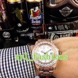 El reloj de hombre de lujo más vendido del mundo. Reloj de acero inoxidable mecánico con reloj de oro rosa y bisel de diamante. Reloj mecánico automático para hombres.