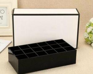 2018 Classic High-Grade-Acryl 18 Raster Aufbewahrungsbox Kosmetische Multifunktions-Aufbewahrungsbox Lipgloss-Display mit Geschenkverpackung