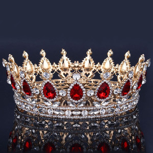 Corona nuziale di lusso Cristalli di strass Royal Wedding Crowns Princess Crystal Accessori per capelli Festa di compleanno Diademi Quinceaner Sweet 16