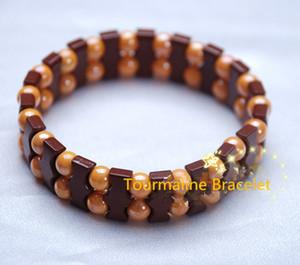 Nature Health Benefit Perle di tormalina Tourmaline Germanio braccialetto di energia potente Wrist Band Bracciale per uomo donna