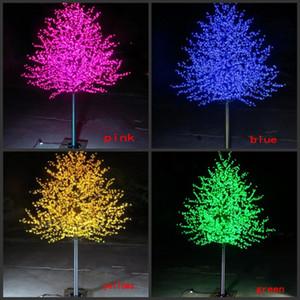 impermeabile esterna giardino paesaggistico pesco simulazione lampada a LED 1.5 ~ 3 metri / 480 ~ 2304 ciliegio LED albero in fiore si illumina arredamento da giardino