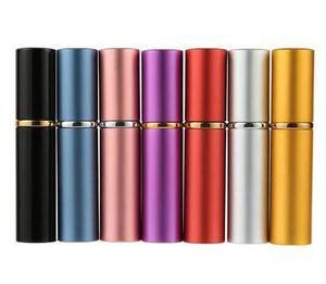 5 ml Mini Spray Frasco de Perfume de Viagem Recarregáveis Vazio Recipiente Cosmético Garrafa De Perfume Atomizador Garrafas De Alumínio Recarregável