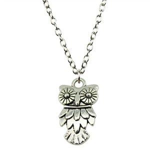 WYSIWYG 5 Pieces Metal Chain Necklaces Pendants Women Necklace Jewelry Owl 20x11mm N2-B12618