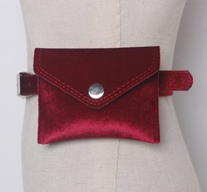 Velour Waist Packs Fashion Women Leather Belt Pack Waist Bag Female Phone Pouch Belt Bags Bright Small Female Bum Bag
