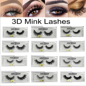 Cils Lashes 3D Mink luxe Hand Made Vison Cils High Volume Cruelty Free Mink Faux Cils cils supérieurs