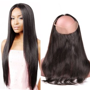 New Arrivals Pre Plucked 360 Lace Frontal Closure with Baby Hair Straight Human Hair Hand Tied Natural Black 1B 1 Piece 8-22 Inch