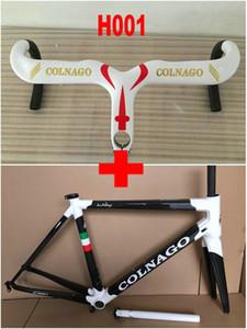 Parlak colnago C60 Karbon Elyaf Yol Bisikleti Çerçeve + colnago Karbon Gidon Karbon Bisiklet Çerçeve / Mat Son