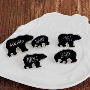 Nova Mama Urso Broches Amor Família Dos Desenhos Animados Animal Papa Urso Broche Bebê Urso Pinos Emblema Jóias Presente frete grátis