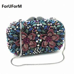 ForUForm oval luxo noite embreagem sacos de artesanato bolsa de embreagem de cristal diamante mulheres partido noite sacos bolsas LI-1573