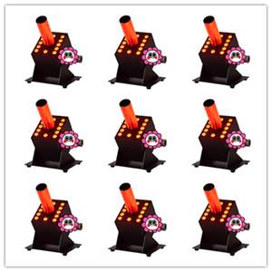 8 piezas DMX512 Cryo FX Blast 5m Manguera negra 3in1 RGB 12 * 3w CO2 Máquina de humo de niebla fría 70w LED CO2 Jet Cannon