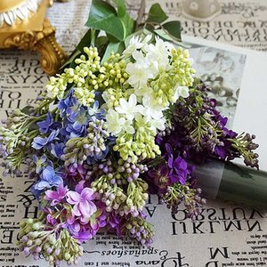 Silk Lilac fake flowers home new Year decoration accessories wedding party bride bouquet diy material cheap artificial flowers