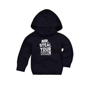 MUQGEW 유아 아기 소년 소녀 가을 / 겨울 스웨터 코튼 긴 소매 O - neck 유아 편지 인쇄 후드 탑 스웨터 의상
