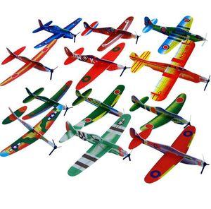 Toptan Bulmaca Sihirli Uçan Planör Uçak Düzlem Köpük Geri Uçak Çocuklar Çocuk DIY Eğitici Oyuncak BY0000