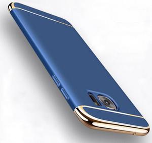 إلى Samsung Galaxy S7 Edge S8 Plus Case Luxury 3-IN-1 Case صدمات لسامسونج غالاكسي A5 J3 A7 2016 A3 J5 J7 2017 A8 2018 Pro Cases